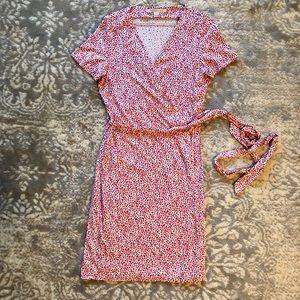 Diane Von Furstenberg Short Sleeve Wrap Dress